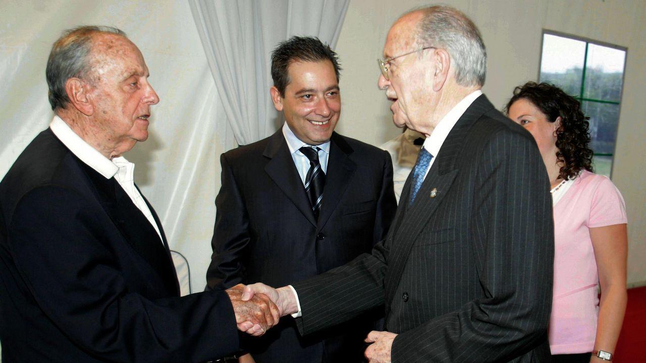 .Cena de homenaje al expresidente de la Xunta Manuel Fraga con Gerardo Fernández Albor