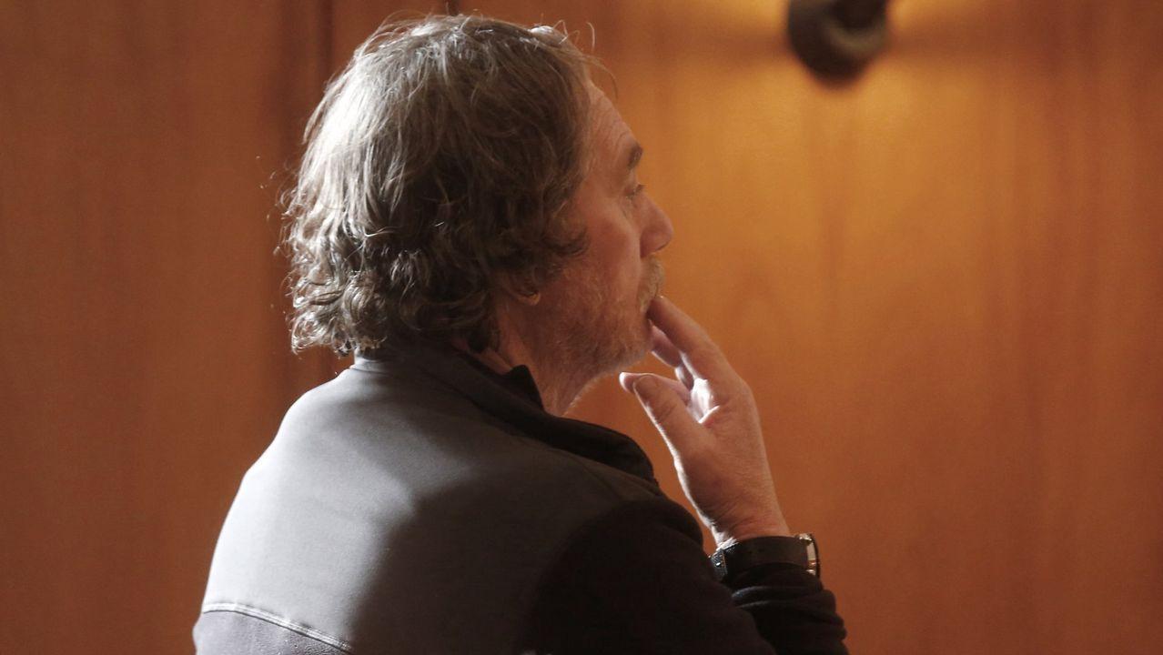 Sito Miñanco declara en la Audiencia Provincial de Pontevedra.Nave de la Cooperativa del Mar San Miguel de Marín, de la que era presidente Luis Santiago Pereira
