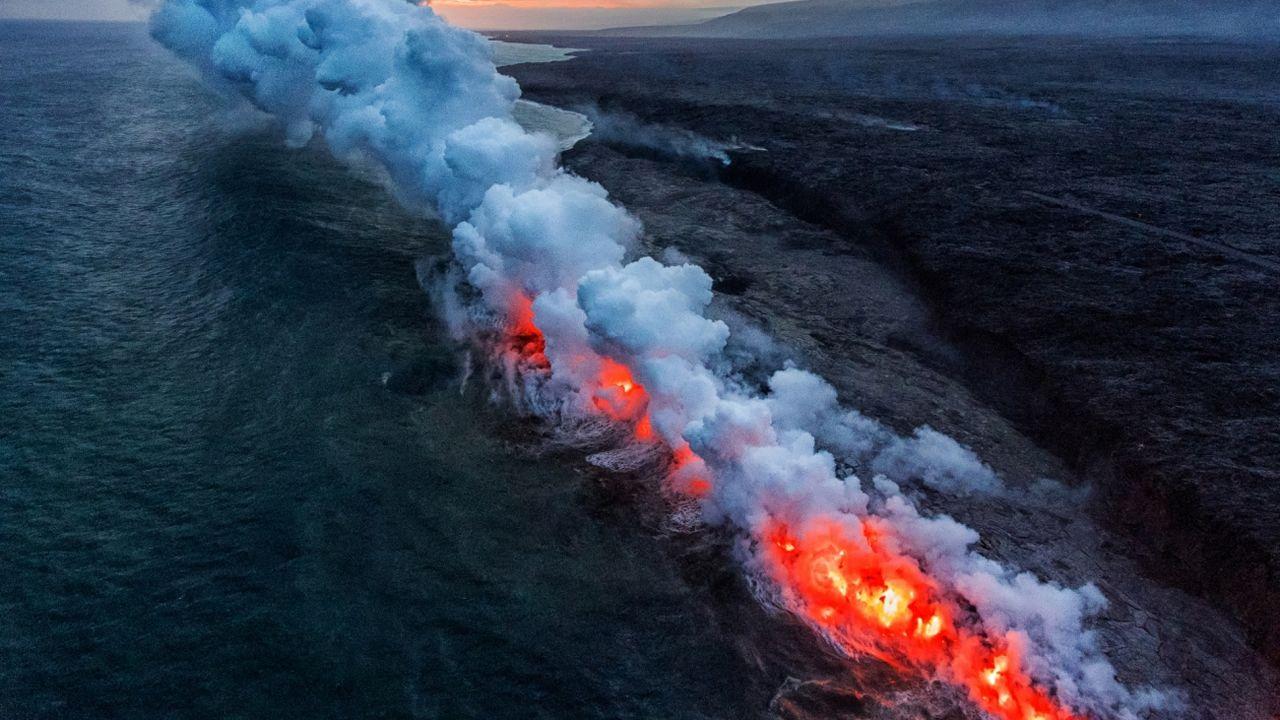 «Entrada al infierno» figura entre las mejores fotos en la categoría de naturaleza