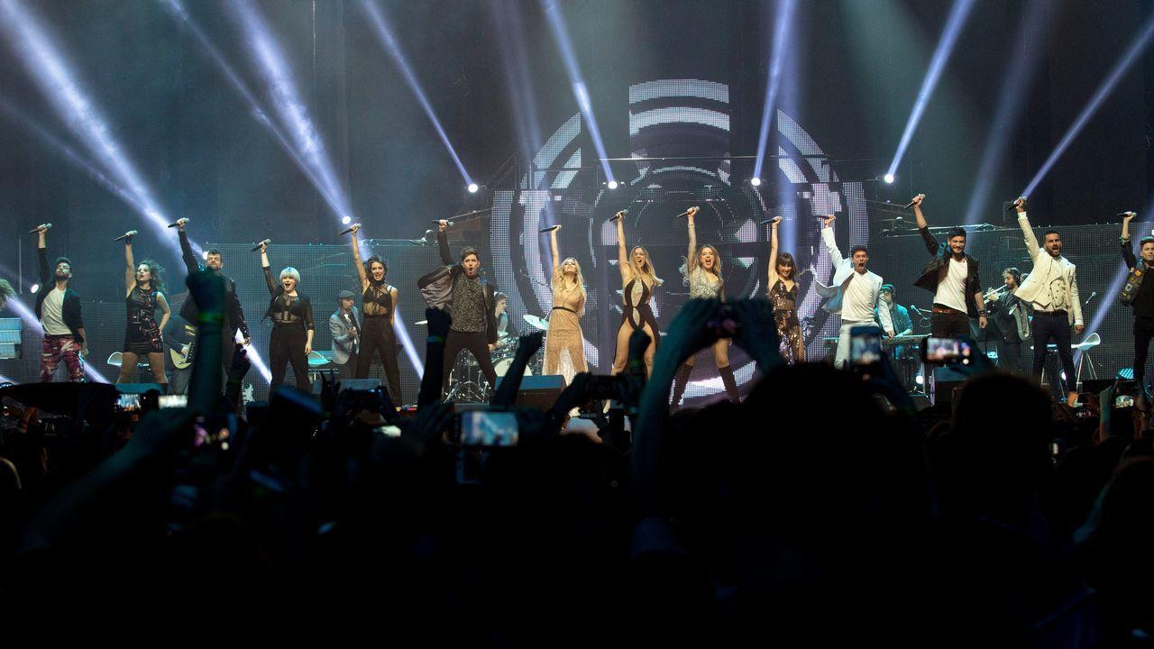 .Los 16 concursantes de «OT 2017» sobre el escenario