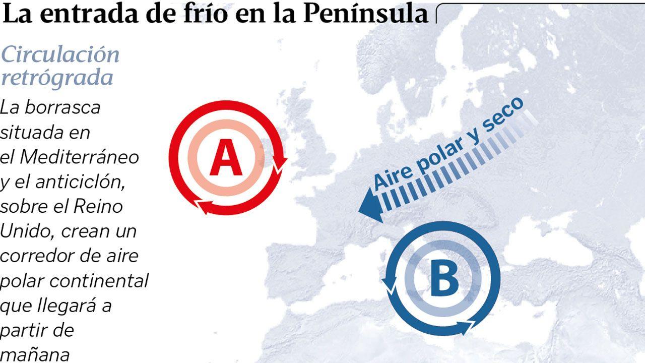 Una irrupción de aire ártico invadirá Galicia