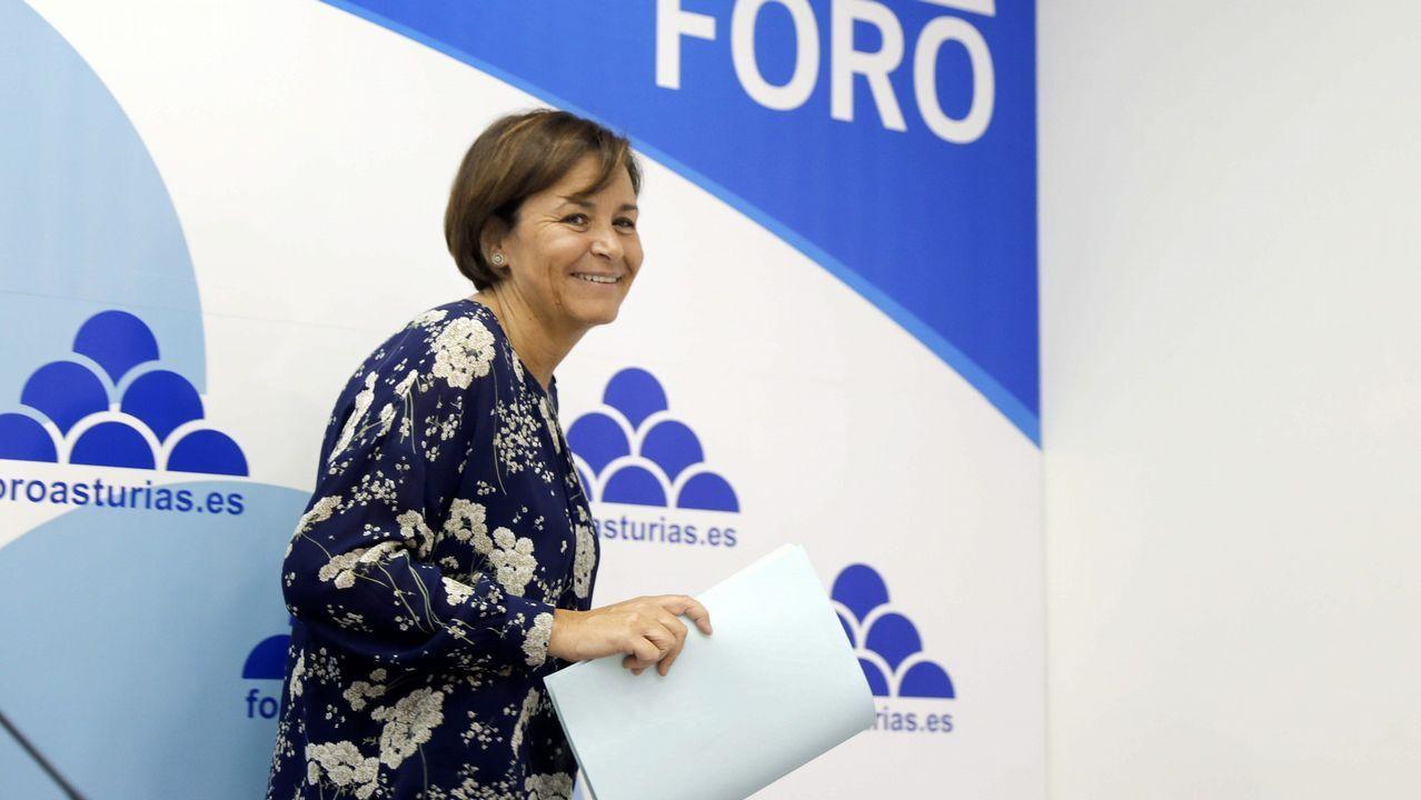 Llegada de Ábalos a Gijón.Carmen Moriyón