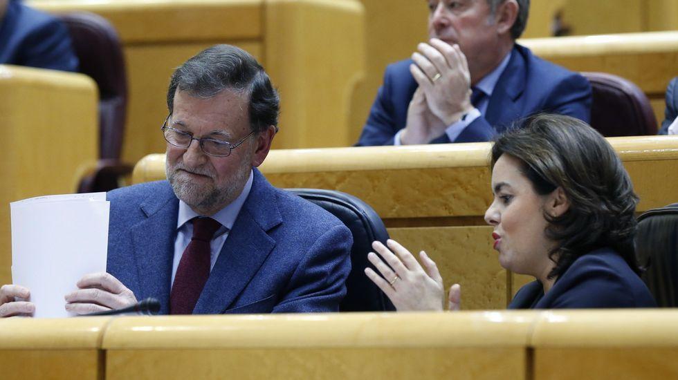 ERC acusa a Rajoy de ser el «señor X» que dirige un «nuevo GAL» contra Cataluña.Areces, en el Senado
