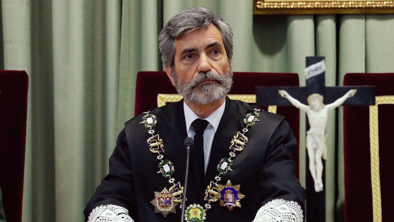 «¡La república no existe, idiota!».El presidente del Tribunal Supremo y del Consejo General del Poder Judicial, Carlos Lesmes