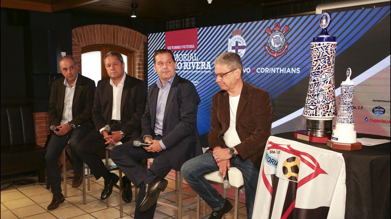 La renovación de Luisinho, en imágenes.Los jugadores del Dépor lucieron las prendas de Ecoalf en presencia de Tino Fernandez
