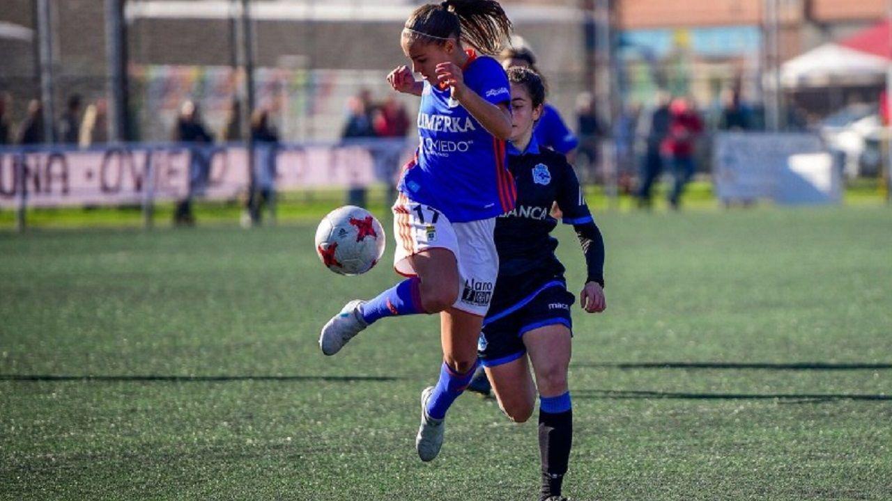 Laurina en el Oviedo-Dépor