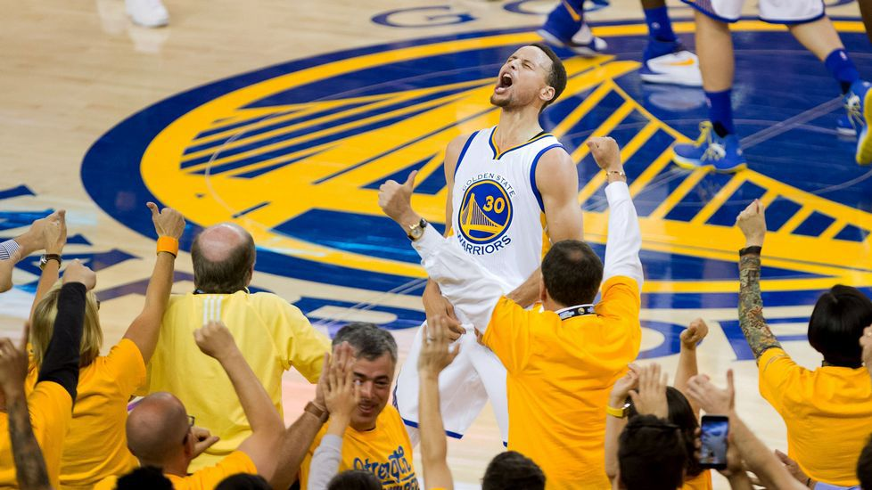 Curry, encantado tras imponerse alos Thunder.