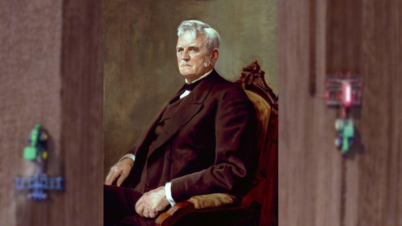 Retrato de John Deere, fundador de la popular marca de tractores