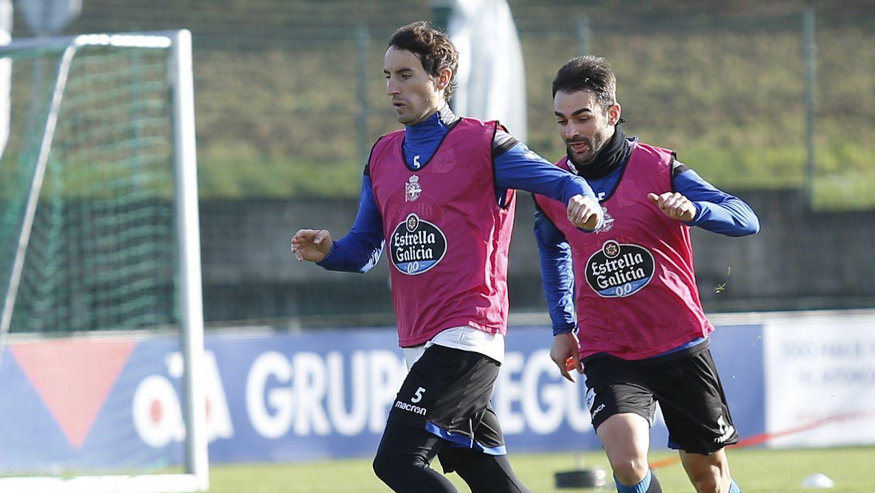 El Deportivo se prepara para jugar en el Bernabéu.