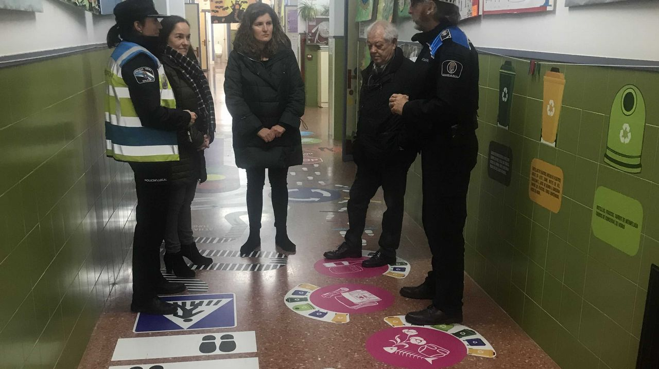 Educacion vial en un colegio de Verín.Radar en Oviedo