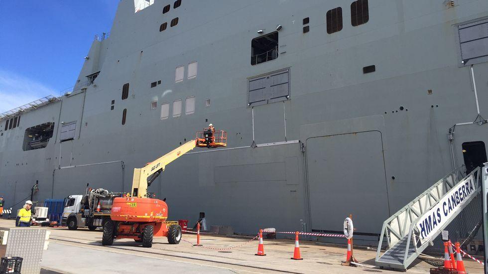 Talento gallego guía el naval australiano