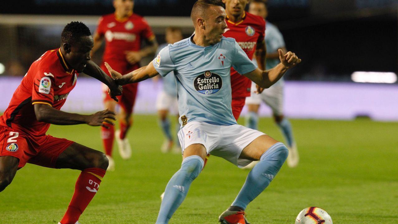 Pelea entre los jugadores de Valencia y Getafe al final del partido.Barreiro entrenando con el Nàstic