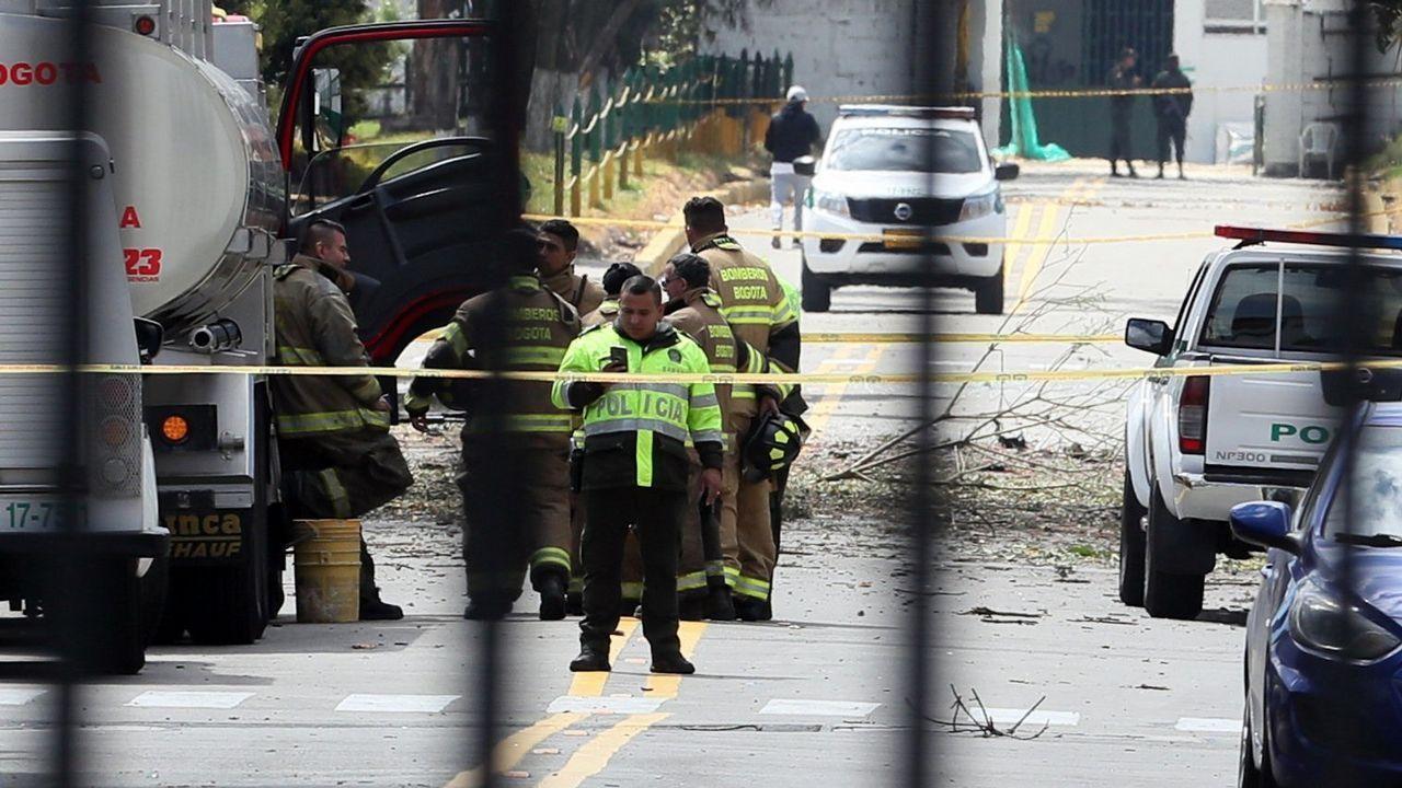 Vista general del lugar donde se produjo la explosión, en el sur de Bogotá