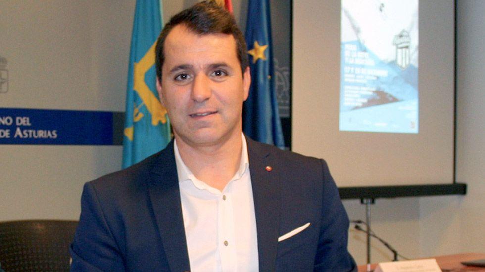 El alcalde de Aller, David Moreno.El alcalde de Aller, David Moreno