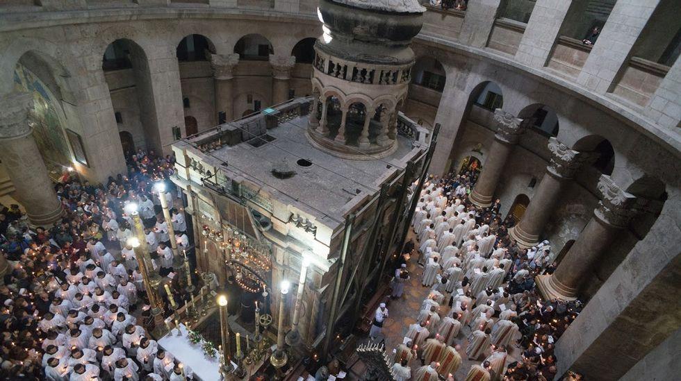 Explosión en Jerusalén.Iglesia de Santa Eulalia de la Doriga