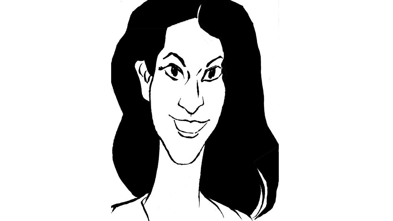Caricatura Diana Quer de Siro.Imágenes subidas por Valeria Quer y por Diana López-Pinel a sus cuentas de Instagram