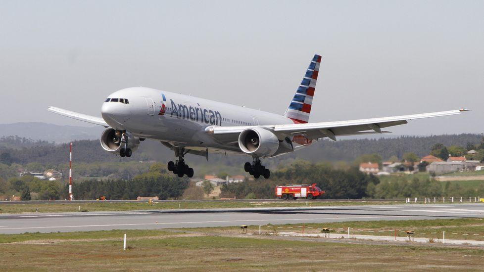 El aterrizaje de emergencia del avión de American Airlines, en imágenes.