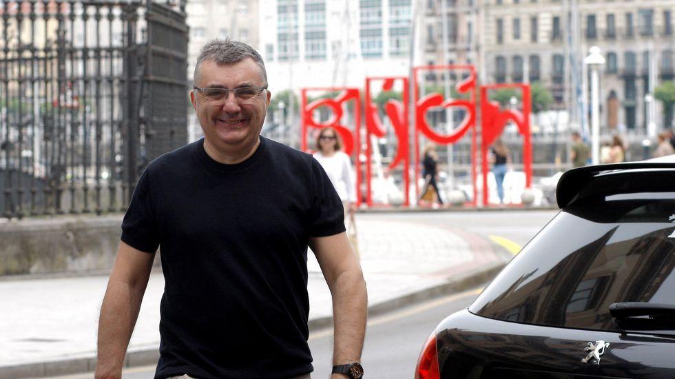 Manuel Vilas, en Gijón, durante su participación en la Semana Negra