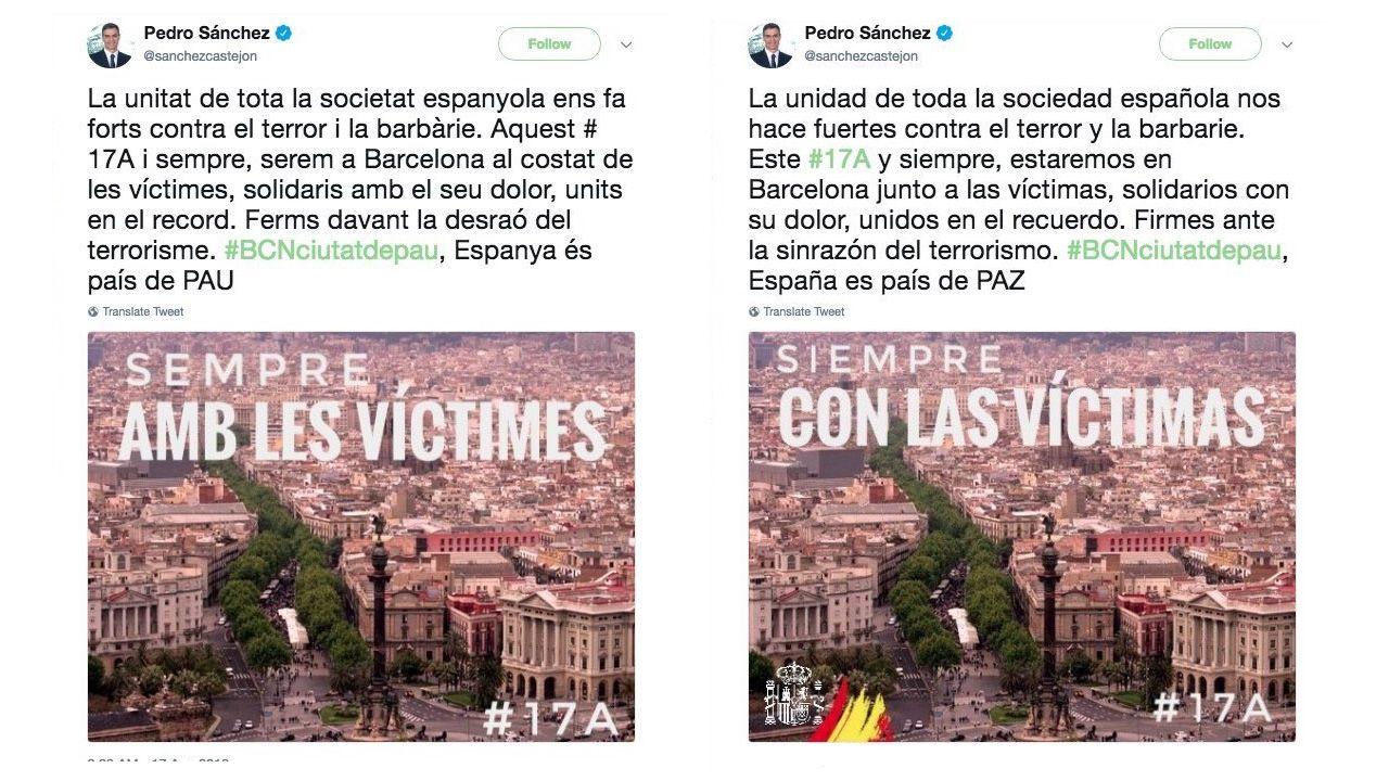 La Moncloa abrirá sus puertas a los ciudadanos todas las semanas.Los dos tuits originales de Sánchez