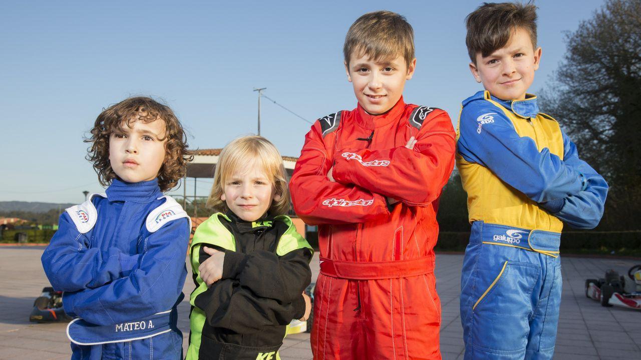 Cuatro bergantiñáns en el campeonato gallego de karting.