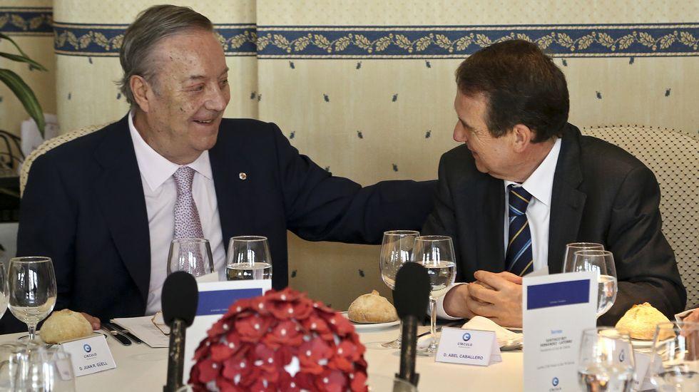 Santiago Rey con el alcalde de Vigo, Abel Caballero