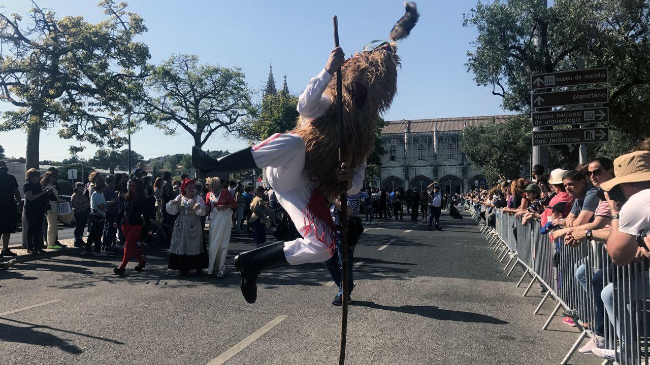 Uno de los sidros deleita al público con uno de sus saltos en Belém