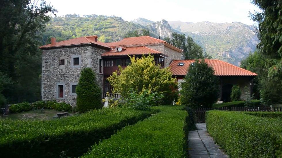 Palacio Flórez Estrada.Estado en el que quedaron los montes de Degaña tras los incendios