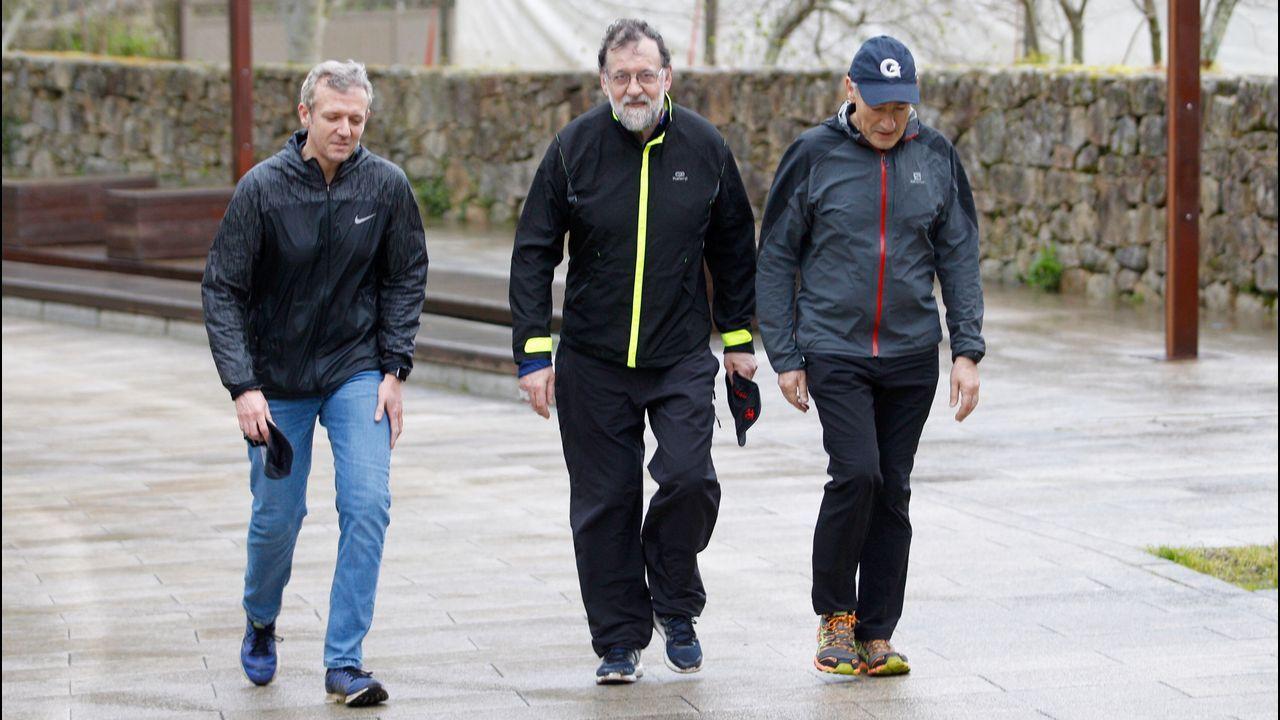 Las vacaciones de Rajoy en Galicia.