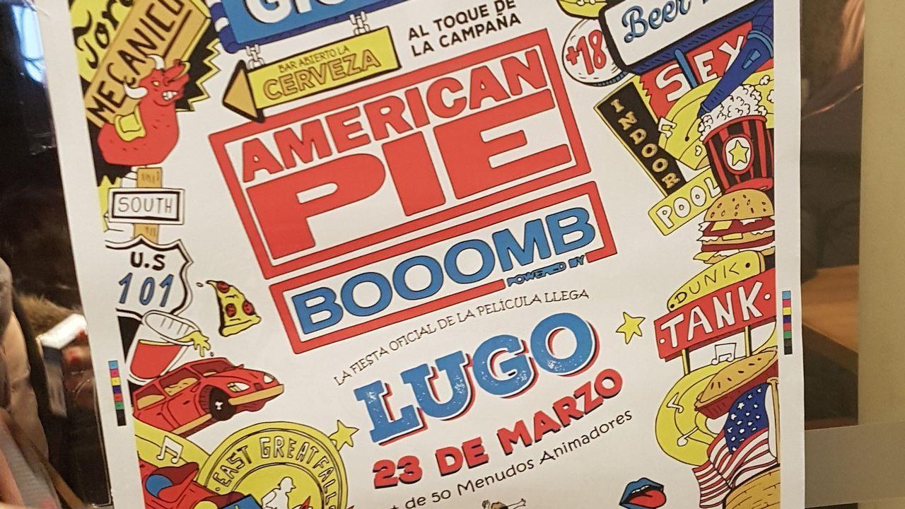 .La imagen tomada en Lugo reproduce el cartel que anuncia el evento previsto para el día 23 de marzo