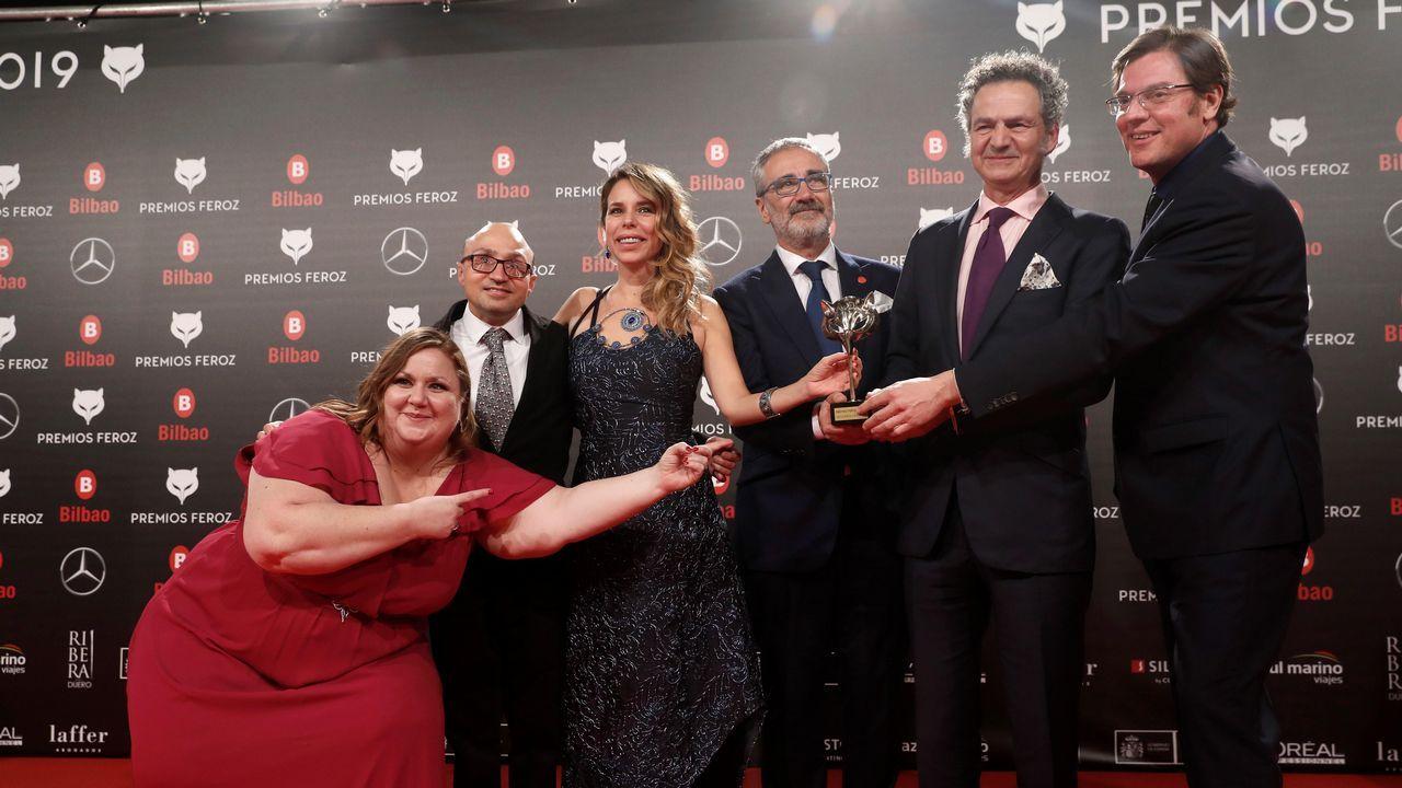PREMIOS FEROZ. El equipo de  Campeones  recibe el premio a la mejor película de comedia