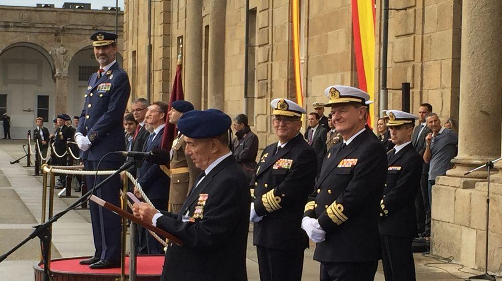 Felipe VI preside en Ferrol el acto del Día del Veterano