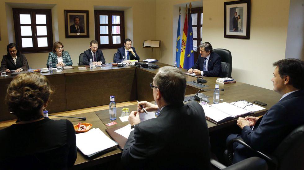 Reunión del Consejo de Gobierno del Principado, en Candamo.Reunión del Consejo de Gobierno del Principado, en Candamo