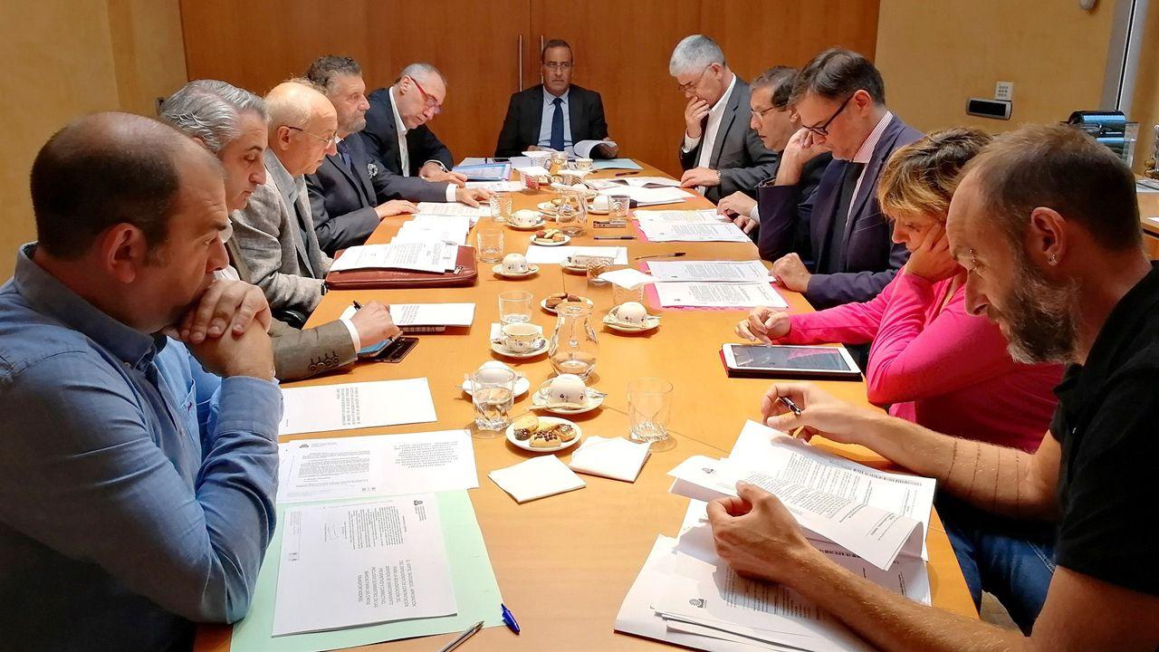 Reunión de la comisión delegada de Cogersa, presidida por Fernando Lastra