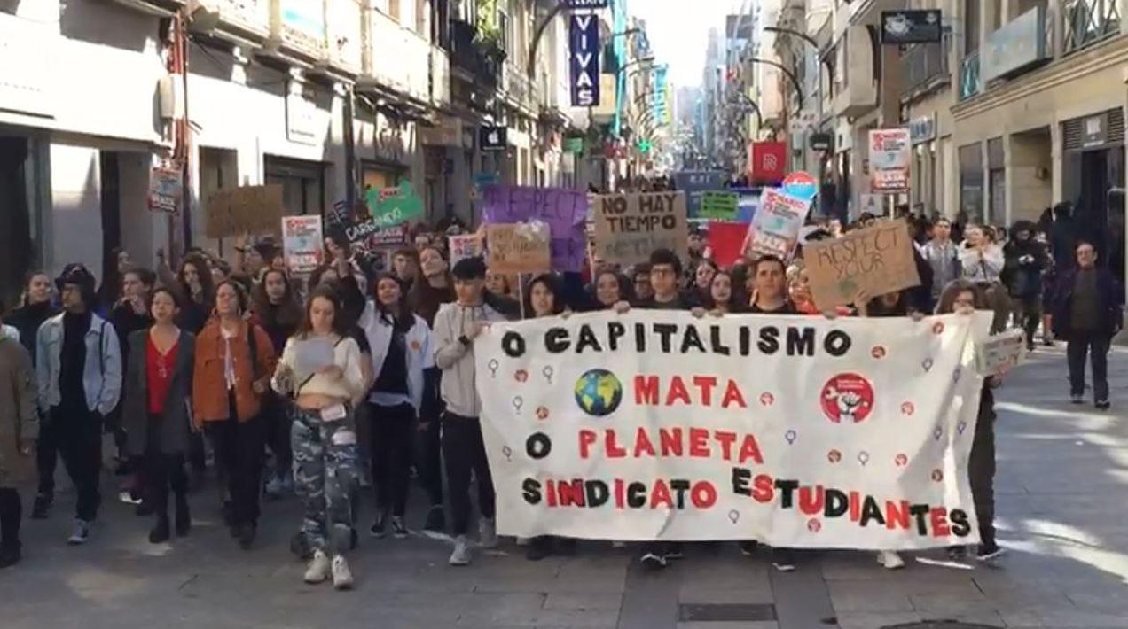Los estudiantes de Vigo, en la calle también por el cambio climático