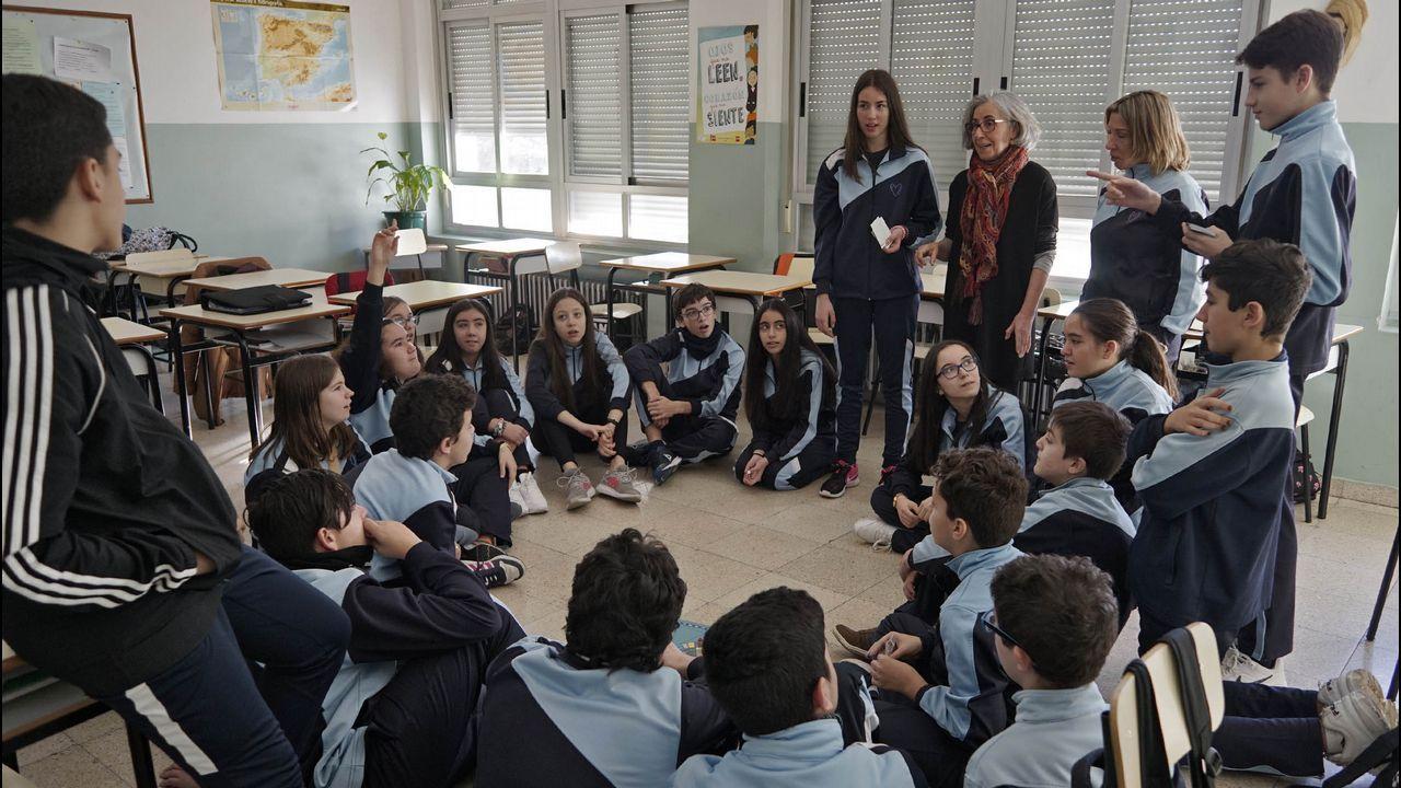 Educacion vial en un colegio de Verín