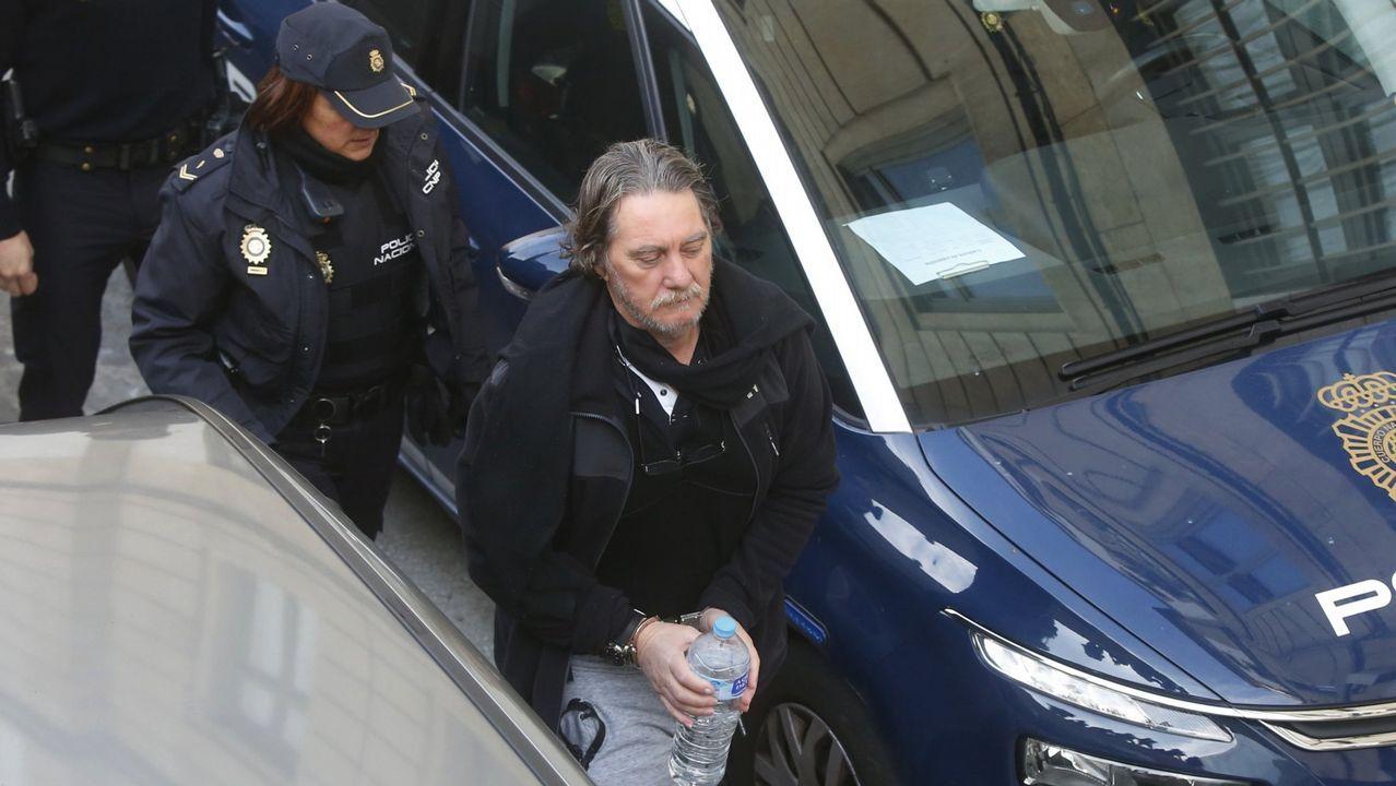 Uno de los detenidos, ayer