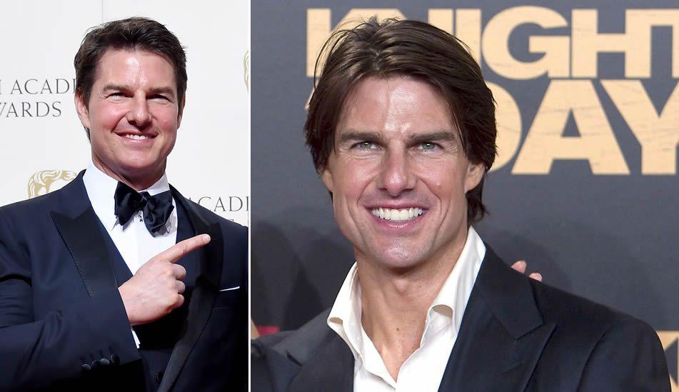 Demi Moore.Tom Cruise, ayer y en una imagen de archivo