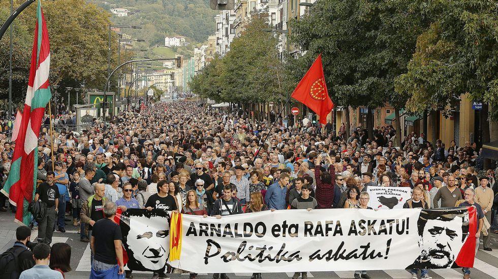 <br /> Marcha por los derechos de los presos de ETA