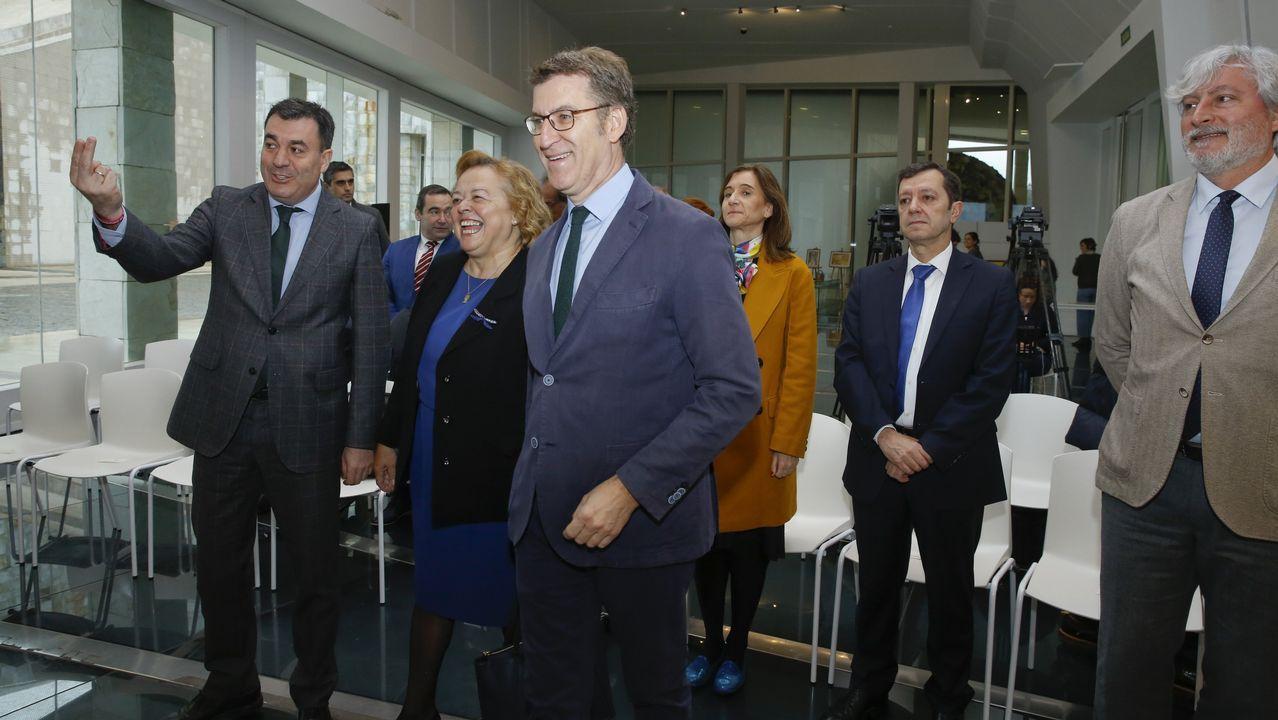 Sánchez busca en Vigo el voto de los que quieren una «opción moderada».Los diputados de Ciudadanos Girauta, Rivera y Miguel Gutiérrez en una imagen de archivo durante un acto en Santiago