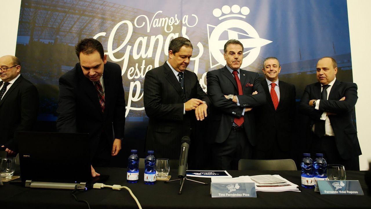 Presentación de la candidatura de Tino Fernández bajo el lema  Vamos a ganar este partido