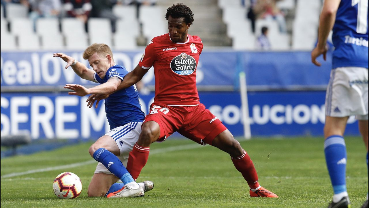 Vetusta Bilbao Athletic Requexon.Didier Moreno jugó de mediocentro defensivo contra el Almería y en la segunda parte de Oviedo
