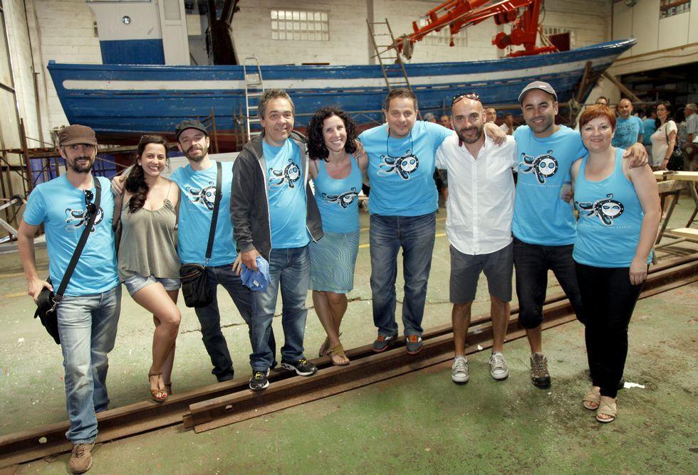 Os organizadores do festival audiovisual con Andrés Mahía, Luís Avilés e Federico Pérez.