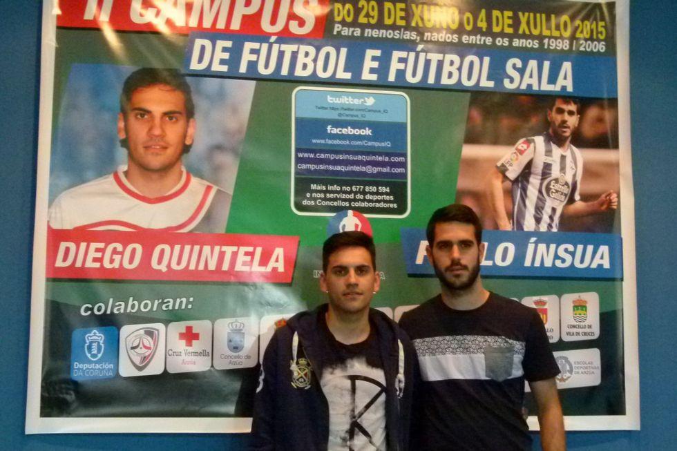 .Diego Quintela y Pablo Insua, en la presentación del campus.