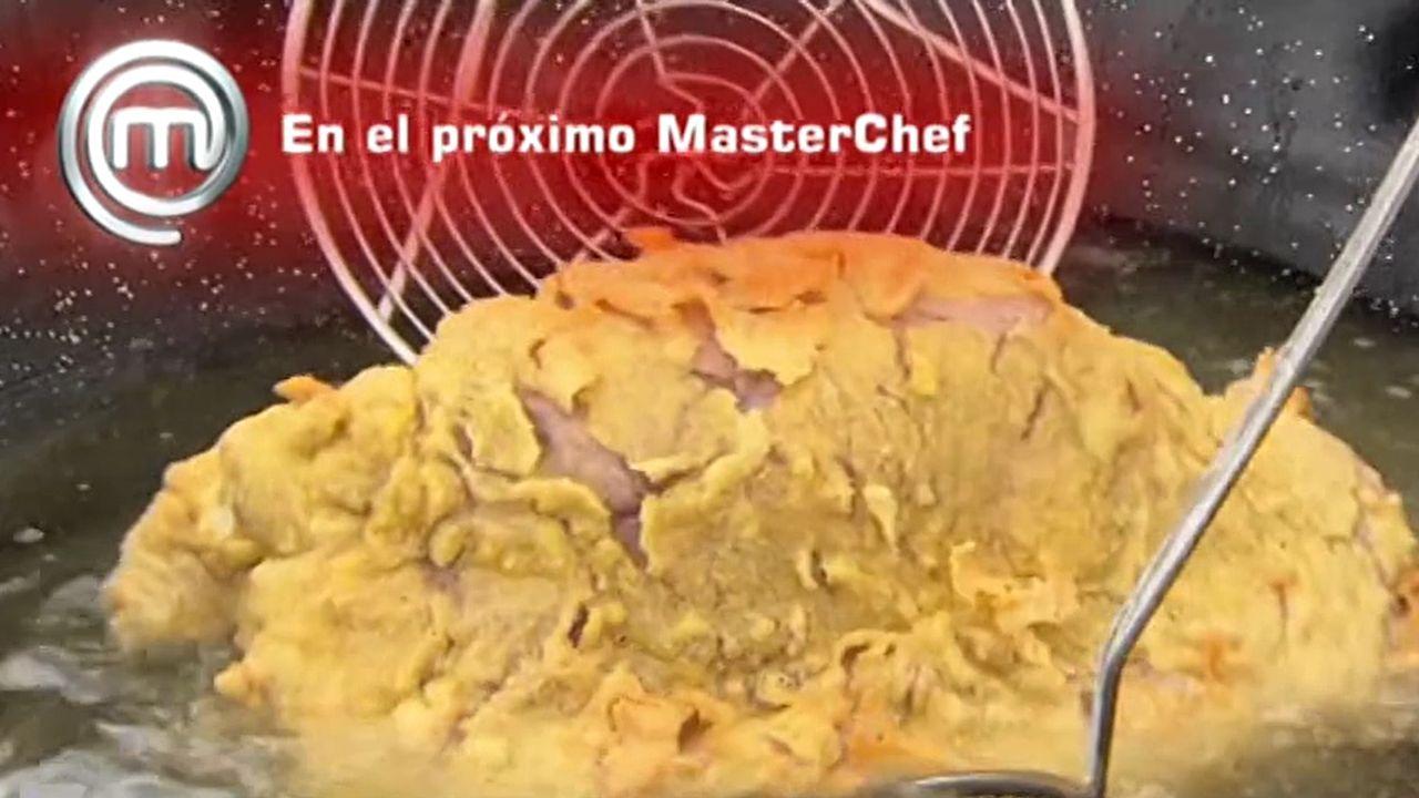 El cachopollega a «Masterchef Celebrity».Saúl Craviotto con Pedro y Marcos Morán