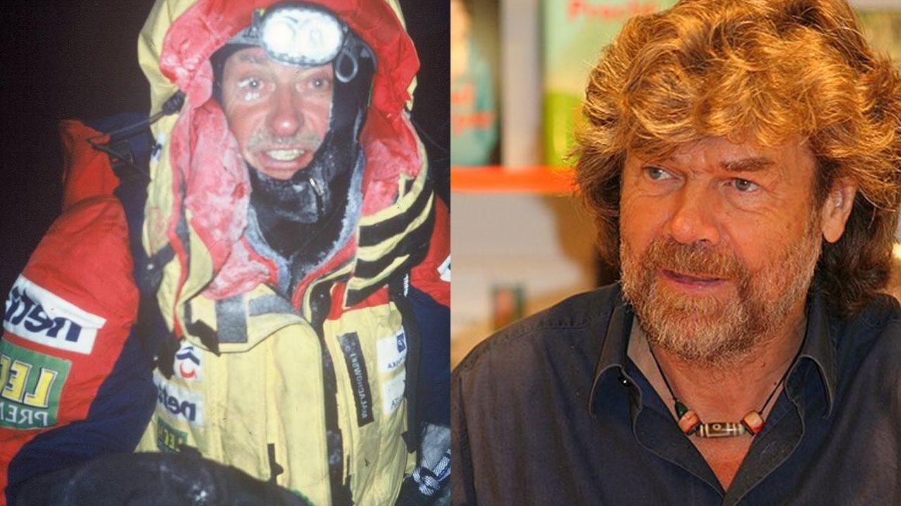 .Kriyzstof Wielicki y Reinhold Messner