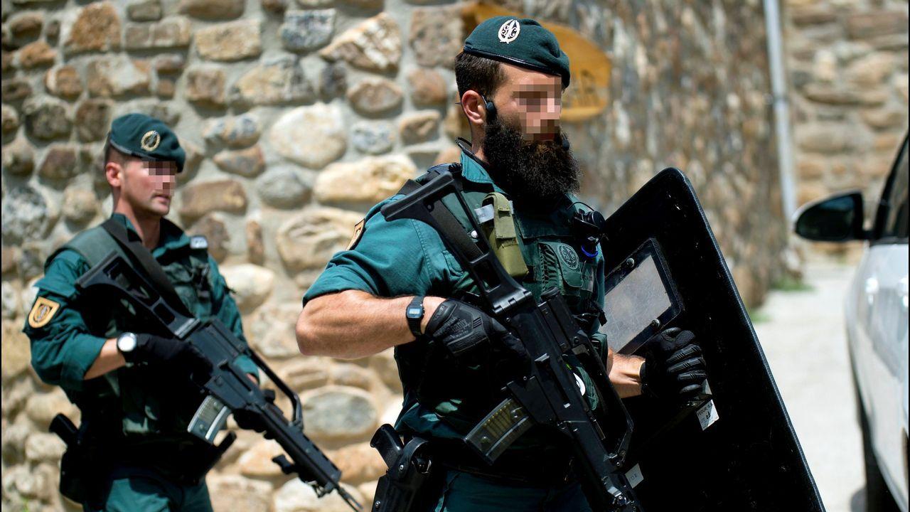 Miembros del Grupo de Acción Rápida de la Guardia Civil fueron trasladados a Cantabria como refuerzo
