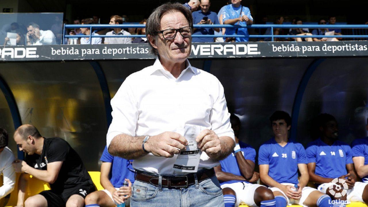 Gol Alcorcon Real Oviedo Santo Domingo Mossa Alfonso Herrero.Anquela en Santo Domingo
