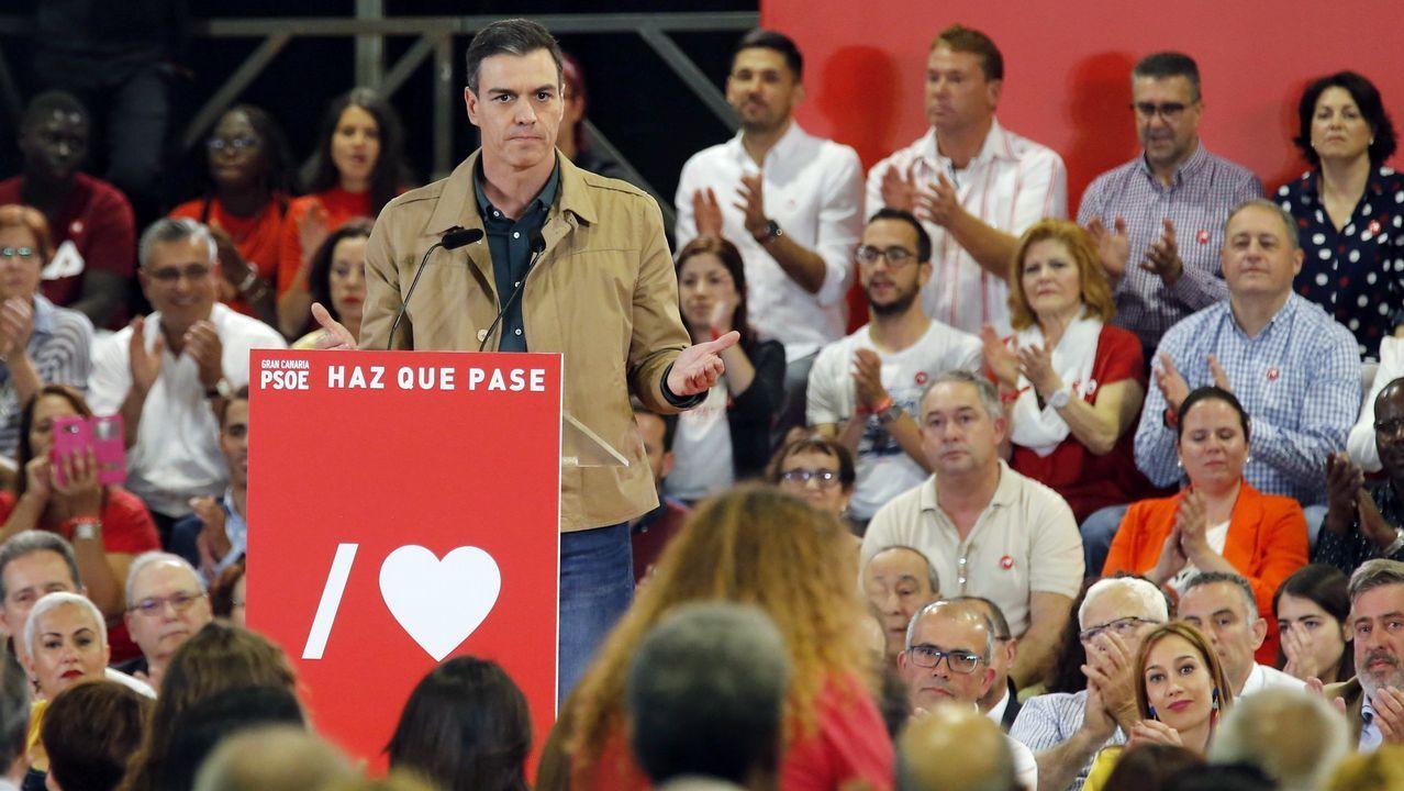 Sánchez afronta la aritmética de pactos en una posición privilegiada.Imagen de un juzgado de Vigo en septiembre del 2018, cuatro meses después del fin de la huelga de funcionarios