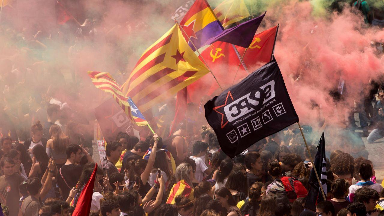 .Manifestación estudiantil en Barcelona