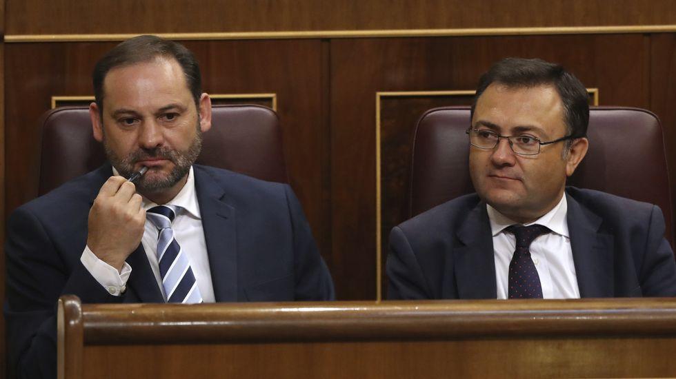 .El portavoz provisional del PSOE, José Luis Ábalos
